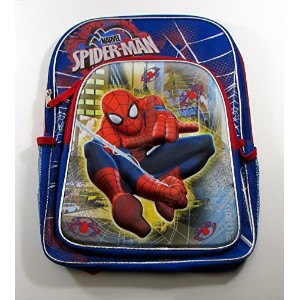 Marvel Ultimate Spider-Man 16 Backpack - 3D Molded Web Swinging Spiderman by Marvel