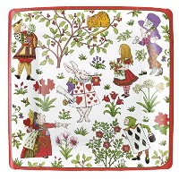 "Mad Hatter Tea Party Paper Plates Alice in Winter Wonderlandパーティーディナーサイズ10.25 "" Pack of 8 3"