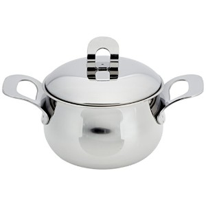 ExcelSteel Made in Italy 2 QtステンレスStockpot w / Sandwichedベース