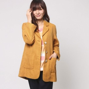 【SALE 60%OFF】ヒューマンウーマン  HUMAN WOMAN outlet arrive paris 麻使用コート (イエロー)