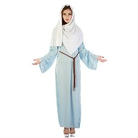 Bristol Novelty Blue/White Virgin Mary Adult Costumes - Women's - One Size