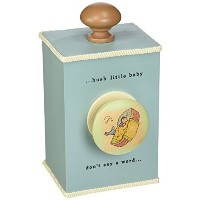 Tree By Kerri Lee Wooden Windup Music Box Hush Little Baby, Turquoise by Tree by Kerri Lee