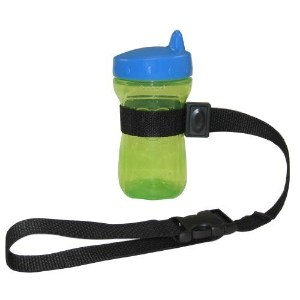 PBnJ Baby SippyPal Sippy Cup Holder Strap Leash Tether (1 Black Solid) by PBnJ Baby