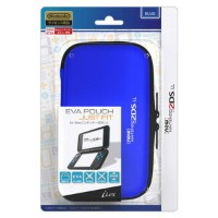 【New2DS LL】EVA Pouch Just Fit for New ニンテンドー 2DS LL(ブルー) 【税込】 アイレックス [ILX2L230 2DSLLエヴァポーチジャストフィットブル...