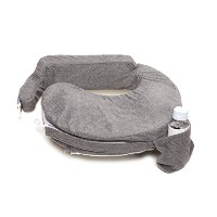 My Brest Friend Nursing Pillow Deluxe Slipcover, Evening, Dark Grey by Zenoff Products