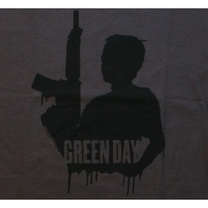 Green Day / Child with Gun Tee (Charcoal)