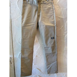 DICKIES/WP 811 SKINNY STRAIGHT DOUBLE KNEE PANT DESERT SAND