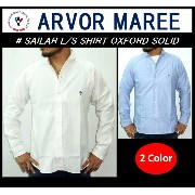 【送料無料】【ARVOR MAREE/アルボーマレー】-SAILAR L/S SHIRT OXFORD SOLID-