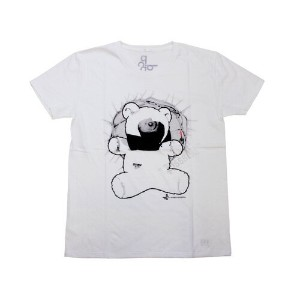 """p.c.a.d. RUSSEL BLACKWELL""""BEARY SCAREY """" S/S TEE ホワイト [Protect Children Against Danger 半袖チャリティーアートTシ..."""
