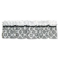 Trend Lab Window Valance, Versailles Black and White by Trend Lab