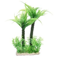 Zzstore人工植物 水上 造園ヤシ 人工水草 アクアリウム 水槽装飾 装飾品 人工植物