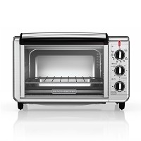 BLACK+DECKER TO3230SBD 6-Slice Convection Countertop Toaster Oven, Includes Bake Pan, Broil Rack &...