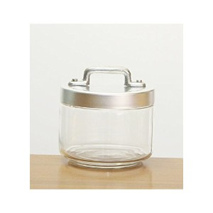 OTTINETTI GLASS JAR WITH BRUSHED ALUMINUM蓋、0.50-liter