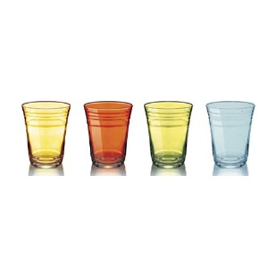 Luminarc Arc International明るいAssorted Sprayed Party Cup ( Set of 4 )、16オンス、マルチカラー