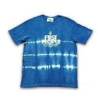 "ASCENSION(アセンション) ""JUICE × ASCENSION コラボ【JAPAN BLUE TEE""First People""-Line-】 (藍染・インディゴ染め・メンズ(mens)..."