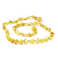 Momma Goose Baroque Teething Necklace, Lemon and Milky, Medium/12-12.5 by Momma Goose