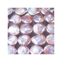 Jia Mei Pearl 淡水パール オーキッドピンク(自然色) バロックコイン 大粒 13-14mm
