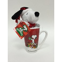 Peanuts Licensed Snoopy Christmas 20 Oz Mug with 6 Plush Snoopy by Peanuts
