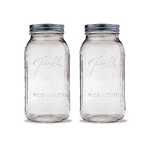 1ボール2 Quart Wide Mouth Canning Jar Pack Of 2 クリア COMINHKG130047