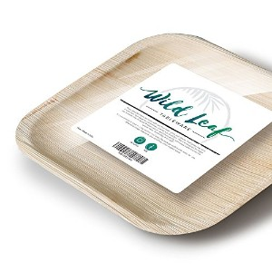 All Natural Palm Leafプレート、25パック。エレガントな、Eco Friendly使い捨てプレートby Wildリーフ 8 Inch