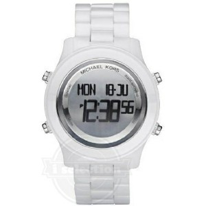 【Michael Kors マイケルコース レディース 腕時計 Digital White Ceramic Bracelet Ladies Watch MK5359】