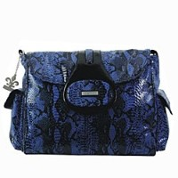 Kalencom Diaper Bag, Elite Python Delph Blue by Kalencom