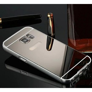 Galaxy S6 Edge Plus ケース, Shiny Awesome Make-up Mirror Plated Aluminum Metal Frame Bumper Slim カバー,...