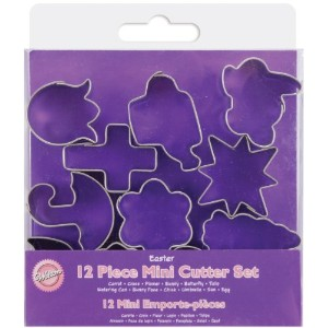 Mini Metal Cookie Cutter Set 12/Pkg-Easter