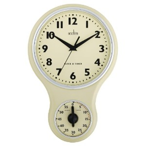 Acctim 21592 Kitchen Time Wall Clock, Cream by Acctim