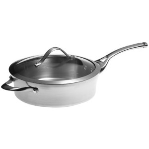 Calphalon Contemporary Stainless 3-Quart Sautテδゥ Pan with Glass Lid by Calphalon