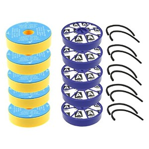 first4spares Washable PreモーターフィルターとPostモーターアレルギーHEPAフィルタwithシールキットfor Dyson dc05dc08Vacuum...