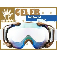 FATFIVE CELEB カラー Natural color Pastel Brown Mirror 【ファットファイブ セレブ】【12-13 スノーボード ゴーグル】715005