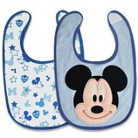 Disney Mickey Mouse 2 Piece Terry Cloth Bibs Gift Set by Disney