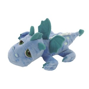 Suki Gifts Li'l Peepers Firestorm Dragon Soft Boa Plush Toy (large, Blue/