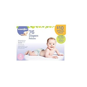 Babies R Us Ultra Absorbent Diapers Size 2 - 76Ct by Babies R Us