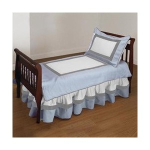 Ever So Sweet Toddler Bedding color Blue by BabyDoll Bedding