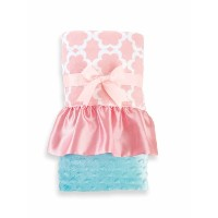 Mud Pie Blanket, Pink/Blue by Mud Pie