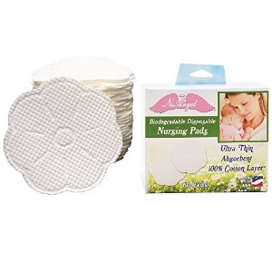 NuAngel Biodegradable Disposable Nursing Pads, 60 Count by NuAngel