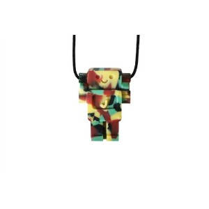 Jellystone Robot 13 Pendant Teether Kids Necklace - Camo by Jellystone