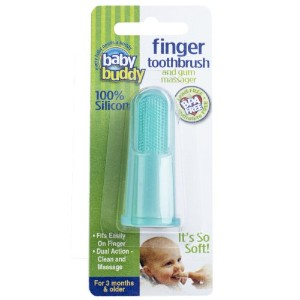 Baby Buddy Finger Toothbrush Stage 2 for Babies/Toddlers, Kids Love Them, Green by Baby Buddy