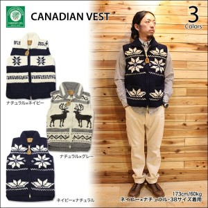 【CANADIAN SWEATER/カナディアンセーター】CANADIAN VEST 3color