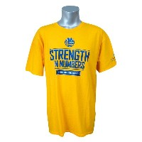 NBA ウォリアーズ 2015 カンファレンス セミファイナル Strength In Numbers Tシャツ Schplar Share イエロー レアモデル