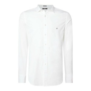 リプレイ メンズ トップス【Stretch Popeline Shirt】optical white