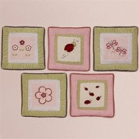 Kids Line Wall Hanging - 5 Pc. - Lady Bug by Creative Home Accents
