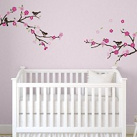 Blossoms and Branches Decorative Peel & Stick Wall Art Sticker Decals by CherryCreek Decals
