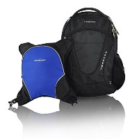 Obersee Oslo Diaper Bag Backpack with Detachable Cooler, Black/Royal Blue by Obersee