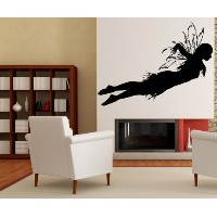 Vinyl Wall Decal Sticker Fairy in Flight 28inX60in item AC172s by Stickerbrand