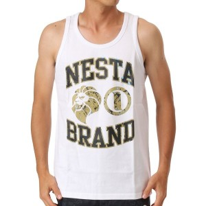 【SALE 20%OFF】ネスタブランド Nesta Brand Bridge Lion Tank (シロ)
