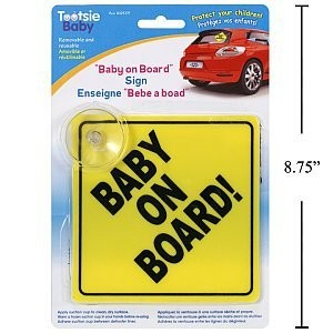 Tootsie Baby Baby On Board Sign with Suction Cup by CTG