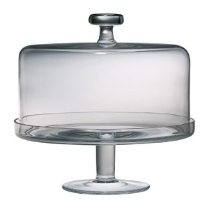 Majestic Gifts European Handmade Cake Dome and Base Set, Large, Clear [並行輸入品]